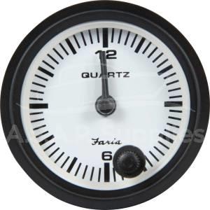Small Dash Mounted Clock Gauge Black Bezel